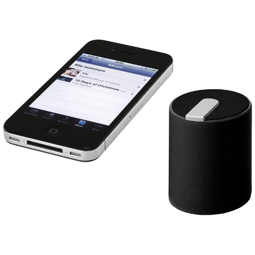 Колонка Naiad с функцией Bluetooth®, цвет black solid-silver