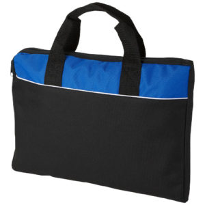 Сумка для конференций Tampa, цвет black solid-royal blue-white