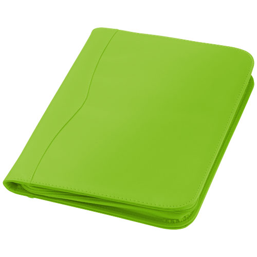 Папка Ebony A4 на молнии, цвет apple green