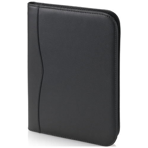 Папка Ebony A4 на молнии, цвет black solid