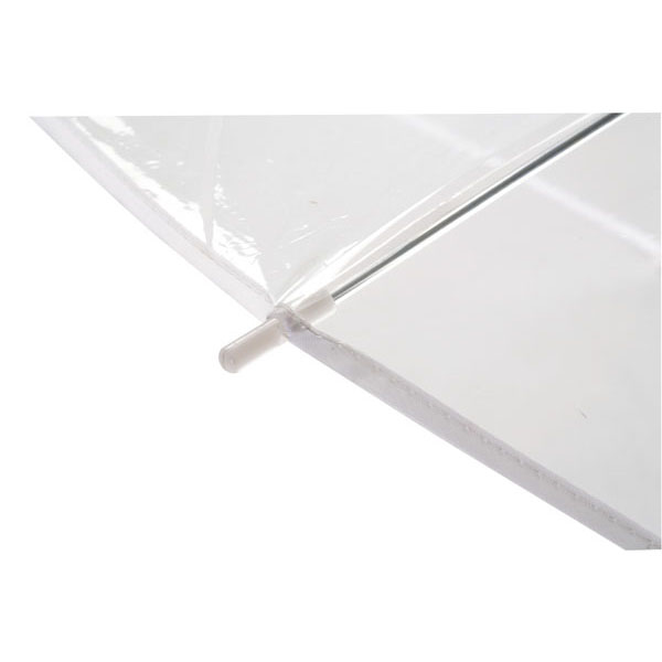 Transparent automatic shoulder strap umbrella «Panoramic», цвет transparent white