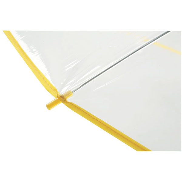 Transparent automatic shoulder strap umbrella «Panoramic», цвет transparent yellow