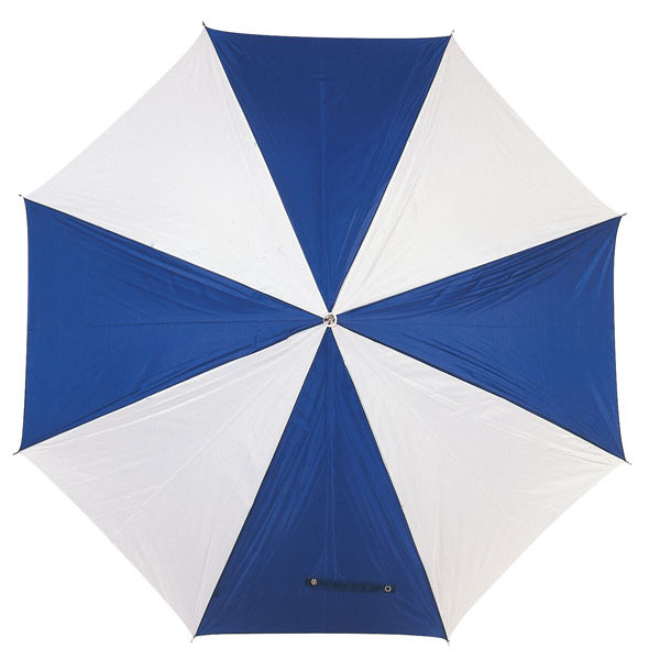 Automatic stick umbrella «Disco», цвет blue white