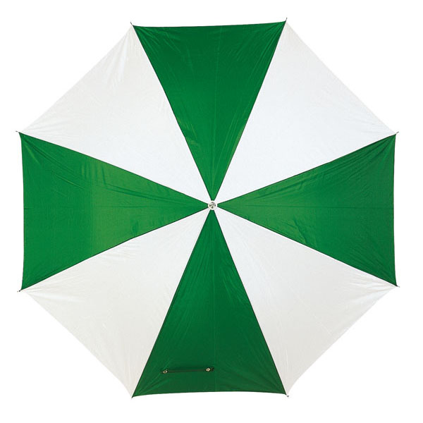 Automatic stick umbrella «Disco», цвет green white