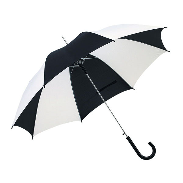 Automatic stick umbrella «Disco», цвет black white
