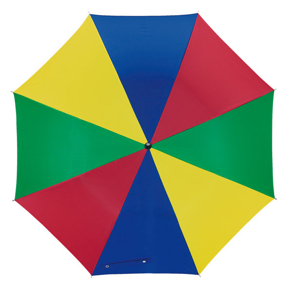 Automatic stick umbrella «Disco», цвет blue green red yellow