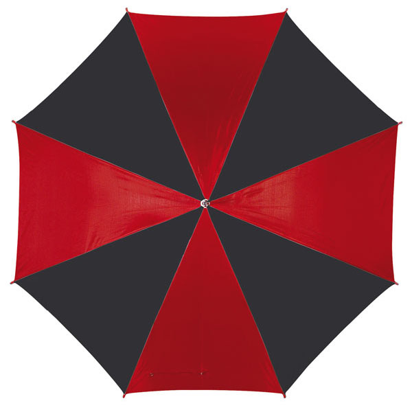 Automatic stick umbrella «Disco», цвет black red