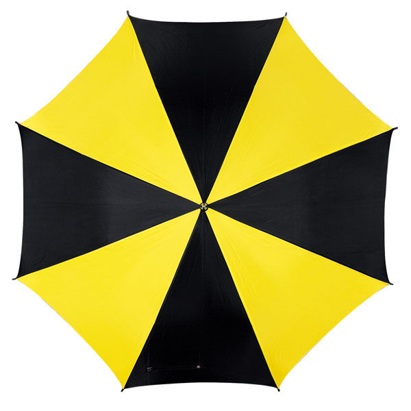 Automatic stick umbrella «Disco», цвет black yellow