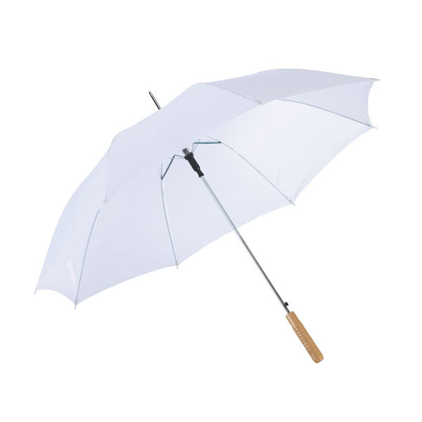 Automatic stick umbrella «Samba», цвет white
