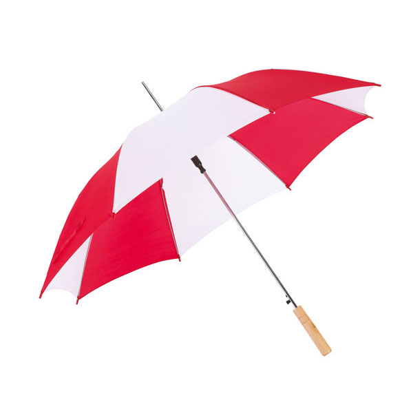 Automatic stick umbrella «Salsa», цвет red white