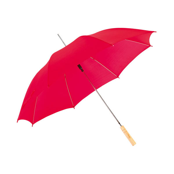 Automatic stick umbrella «Salsa», цвет red