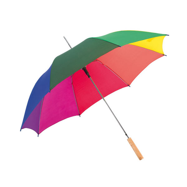 Automatic stick umbrella «Salsa», цвет rainbow
