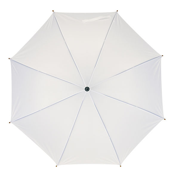 Automatic wooden stick umbrella «Boogie», цвет white