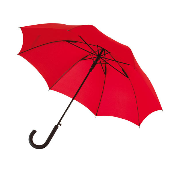 Automatic windproof stick umbrella «Wind», цвет red
