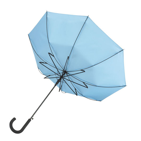 Automatic windproof stick umbrella «Wind», цвет light blue