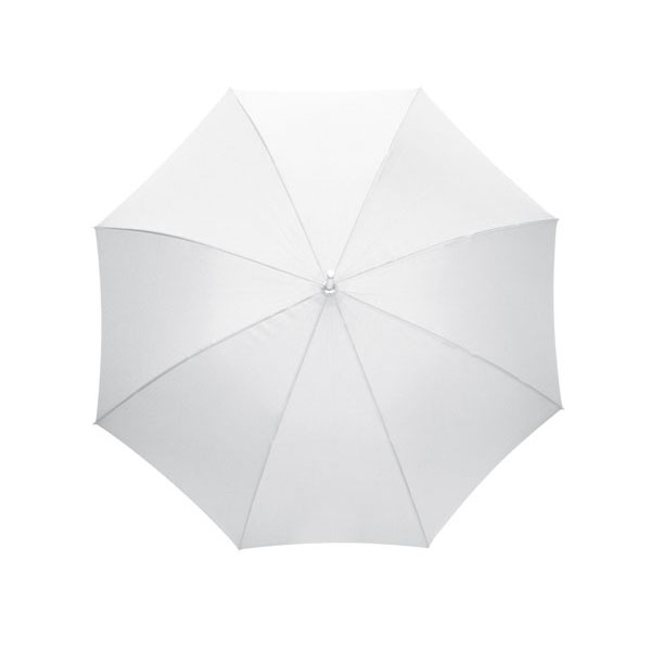 Automatic stick umbrella «Rumba», цвет white