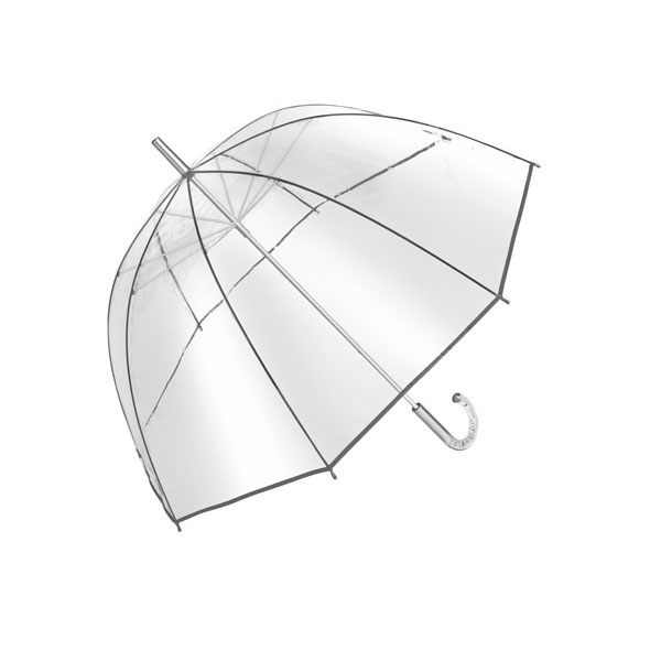 Dome shape umbrella «Bellevue», цвет transparent silver