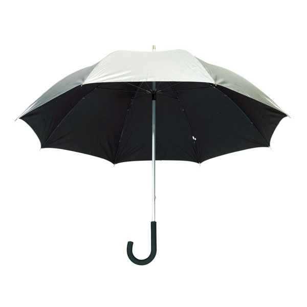 Aluminium fibreglass golf umbrella «Solaris», цвет silver black