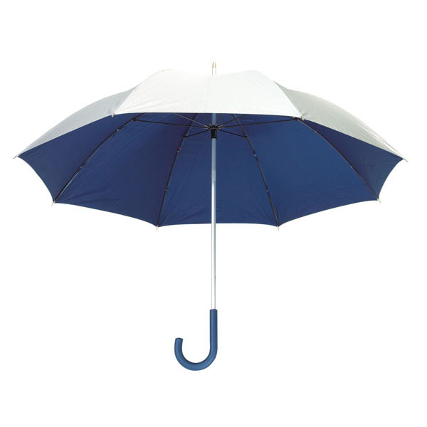 Aluminium fibreglass golf umbrella «Solaris», цвет silver blue