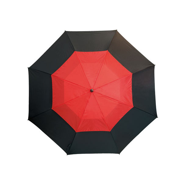 Fibreglass golf umbrella «Monsun», цвет black red