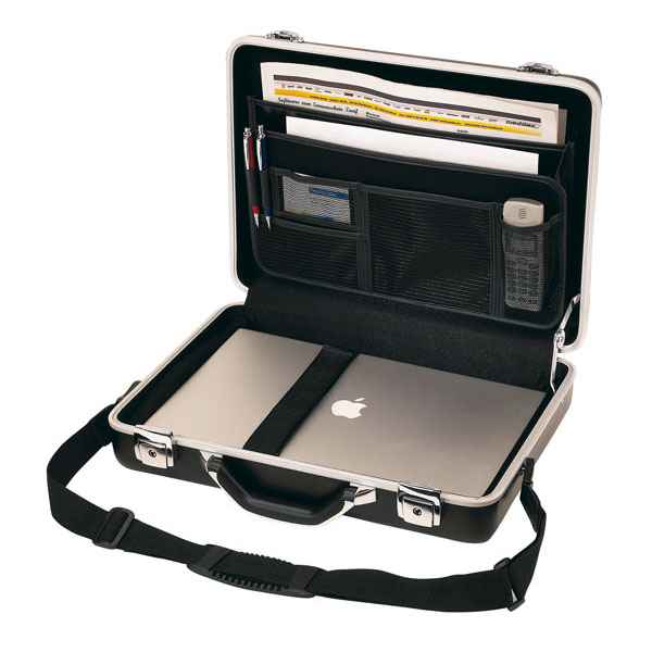 Executive aluminium briefcase «Cyber», цвет black