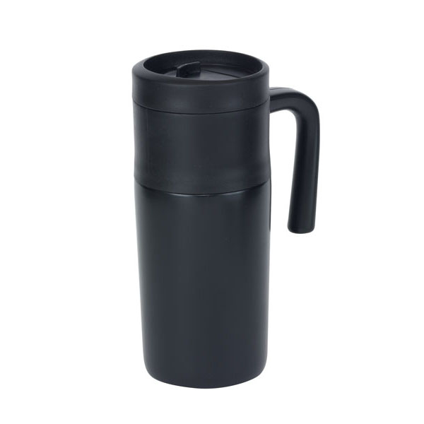 Double-walled flask «Grab and Go», цвет black