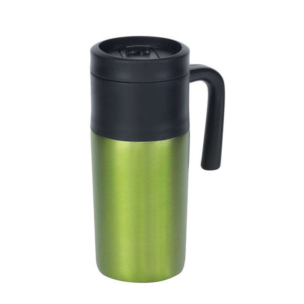 Double-walled flask «Grab and Go», цвет black green