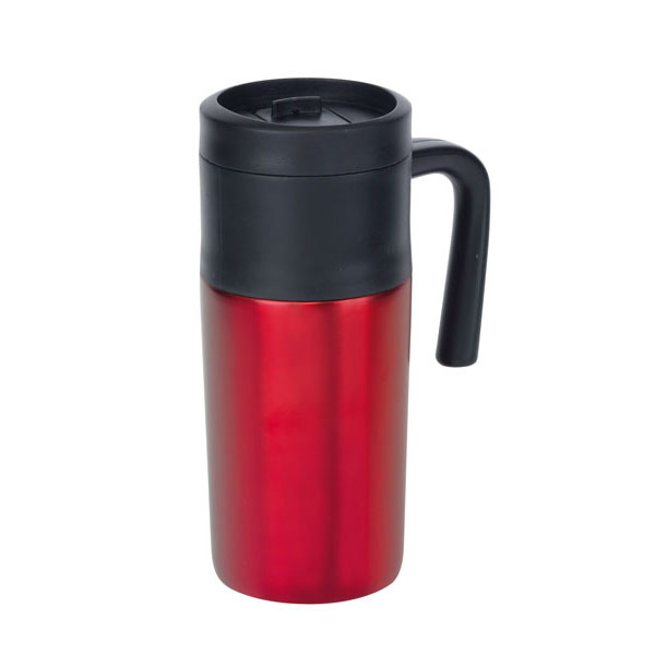 Double-walled flask «Grab and Go», цвет red black