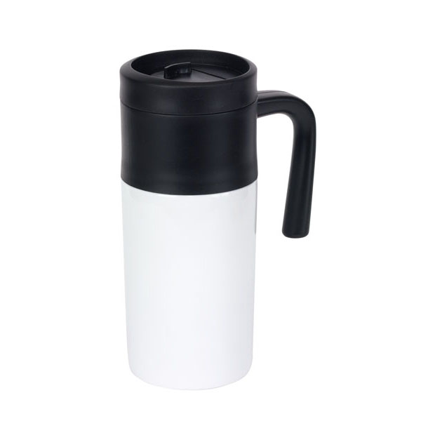 Double-walled flask «Grab and Go», цвет white black
