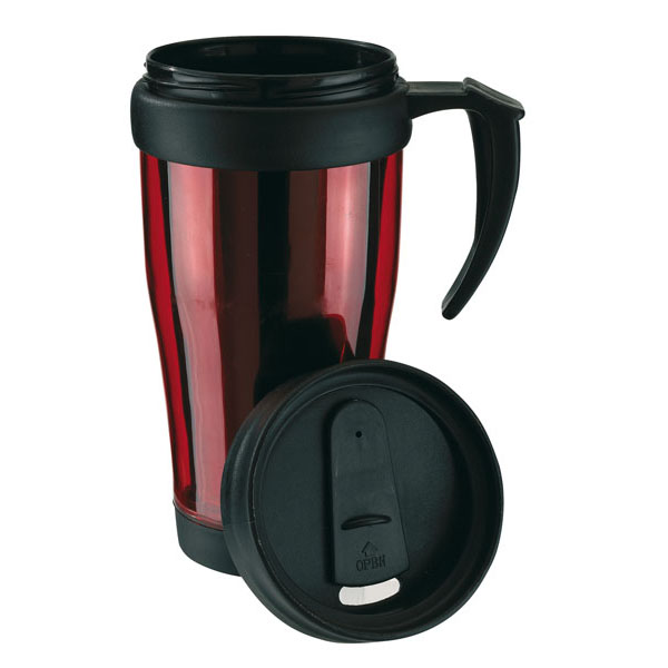 Double-walled cup «Warm-up», цвет red