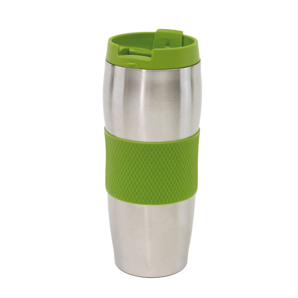 Doubled-walled flask «Au Lait», цвет green silver
