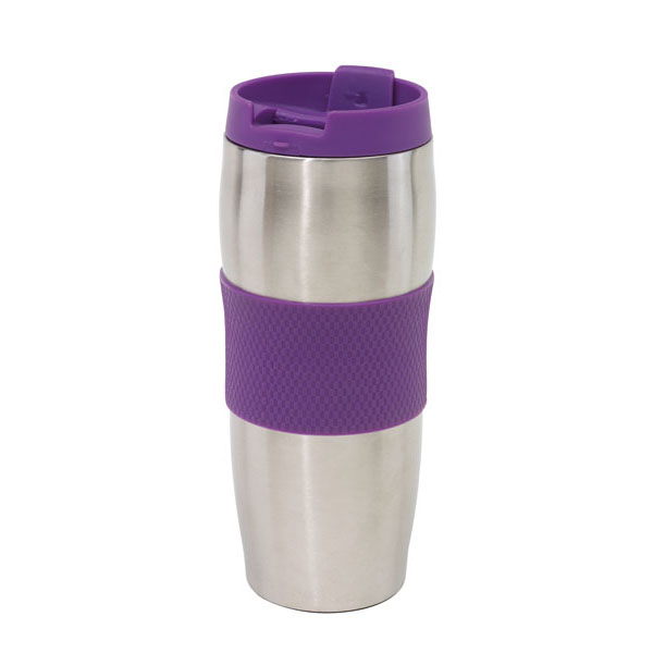 Doubled-walled flask «Au Lait», цвет lilac silver