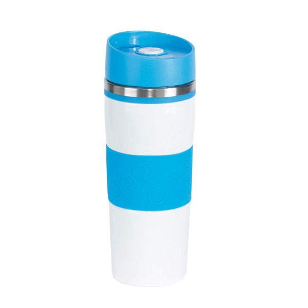 Double-walled flask «Arabica», цвет light blue white