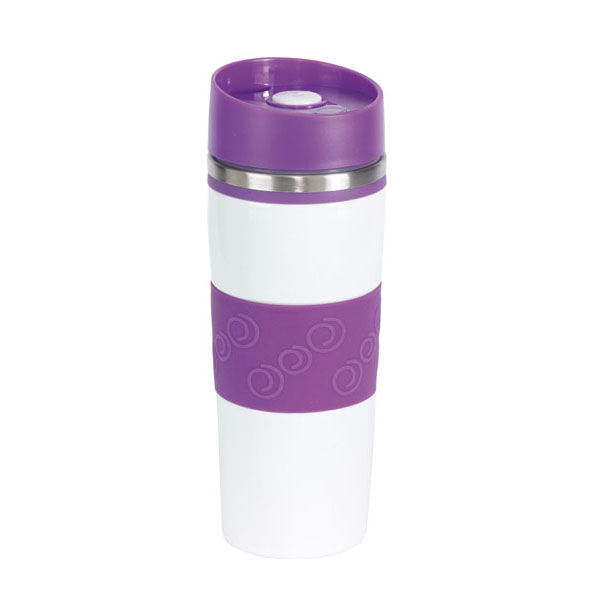 Double-walled flask «Arabica», цвет white lilac