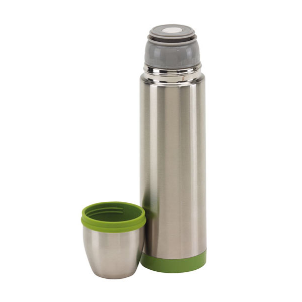 Stainless steel vacuum flask «Keep warm», цвет silver green