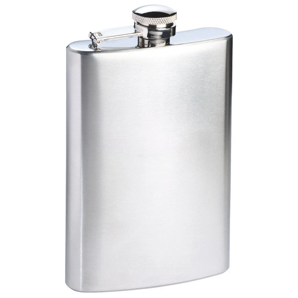Classic designed stainless steel hip flask «Spirit», цвет silver