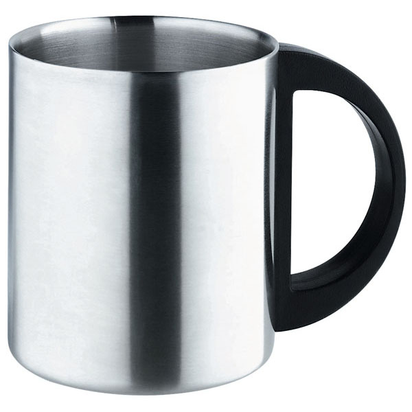 Double-walled mug «Everyday», цвет black silver