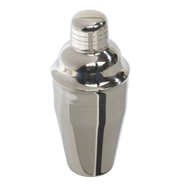 Stainless steel cocktail shaker «Happy Hour», цвет silver