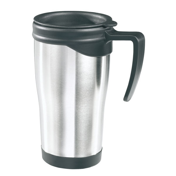 Double-walled travel mug «On the way», цвет silver