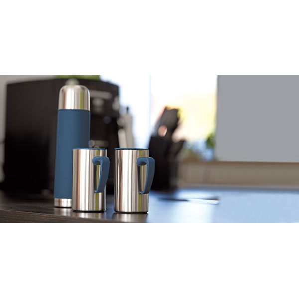 Double-walled vacuum set «Outdoor», цвет silver blue