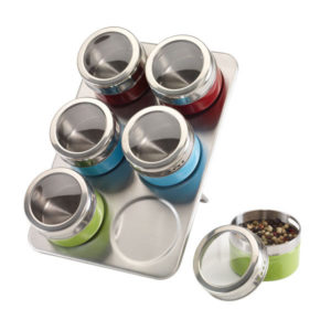 """Stainless steel spice rack """"Fantastic"""", цвет silver red blue green"""