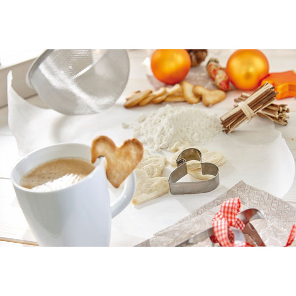 Cup cookie cutter «Cookie Heart», цвет silver