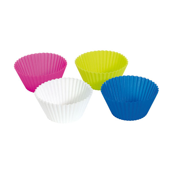 Baking cups «Cupcake»: 4 differently coloured cups, цвет blue green orange magenta