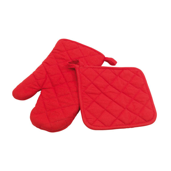 Oven glove set «Secure», цвет red