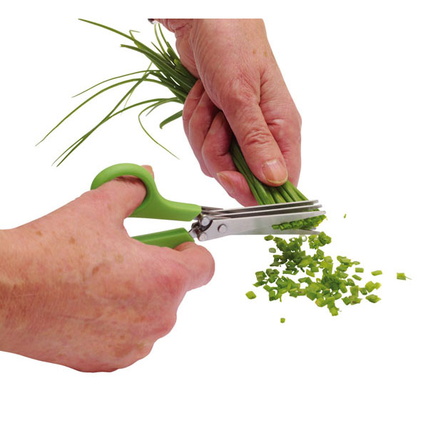 Pair of scissors for herbs «Racy», цвет green silver