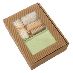 "Massage set ""Natural"", цвет green beige"