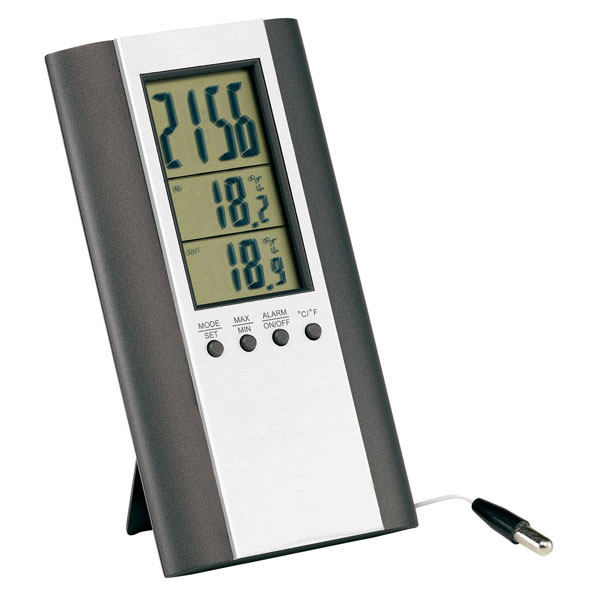 Indoor and outdoor thermometer «Mars», цвет silver anthracite