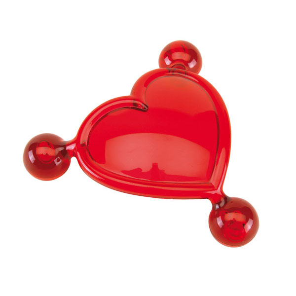 Massage heart «For Two», цвет red