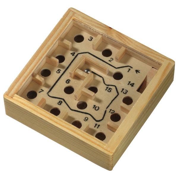 Wooden labyrinth game «Lost», цвет wood