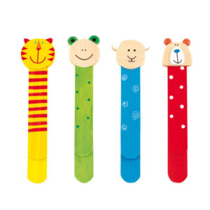 """Wooden bookmarks """"Funny Animals"""" 4-times assorted, price per piece, цвет coloured"""